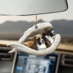 Brindle Boxer sleeping angel brindle boxer lovers dog lover ornament cus
