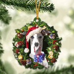 Greyhound Christmas Gift Acrylic Ornament