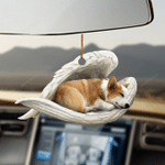 Corgi sleeping angel corgi lovers dog moms ornament