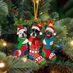 French Bulldog Christmas Socks Ornament