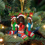 Basset Hound Christmas Socks Ornament