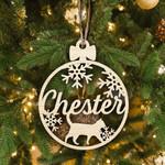 Custom Cat Wood Ornament Personalized Christmas Ornament