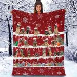 German Shepherd - Christmas Blanket