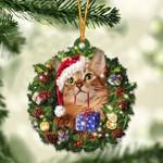 Somali Cat Christmas Gift Acrylic Ornament