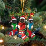 Pug Christmas Socks Ornament