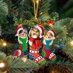 Shetland Sheepdog Christmas Socks Ornament