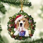 Beagle Christmas Gift Acrylic Ornament