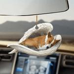Basenji sleeping angel Basenji lovers dog moms ornament