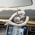Siberian husky sleeping angel siberian husky lovers dog moms ornament