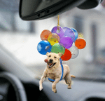 Labrador Retriever Dog Fly With Bubbles Car Hanging Ornament-2D Effect