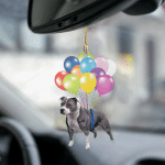 Staffordshire Bull Terrier01 fly with bubbles dog hanging ornament-2D Effect
