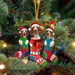 Welsh Springer Spaniel Christmas Socks Ornament