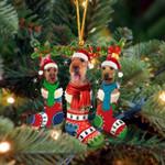 Welsh Terrier Christmas Socks Ornament