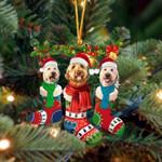 Goldendoodle Christmas Socks Ornament