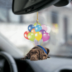 Chocolate Labrador fly with bubbles dog hanging ornament-2D Effect