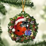 Ladybug Christmas Gift Acrylic Ornament