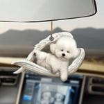 Bichon frise sleeping angel bichon frise lovers dog lovers ornament