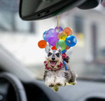 Schnauzer Dog Fly With Bubbles Car Hanging Ornament-2D Effect