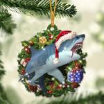 Shark Christmas Gift Acrylic Ornament