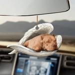 Pitbull sleeping angel pitbull lovers dog moms ornament