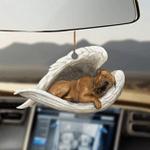Tosa sleeping angel tosa lovers dog mom ornament