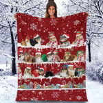 Shetland Sheepdog - Christmas Blanket