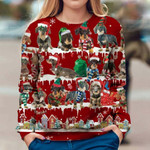 Wire Haired Dachshund - Snow Christmas - Premium Sweatshirt