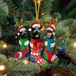 Jagdterrier Christmas Socks Ornament
