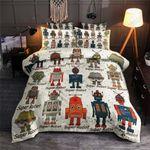 Robots Pattern Printed Bedding Set Bedroom Decor