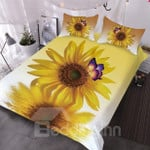 Sunflower Butterfly ClhB Bedding Set CAMLILY