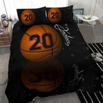 Basketball Shadow Custom Duvet Cover Bedding Set withYour Name #154l