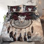 Deer Skull Spirit Dreamcatcher Native American Mandala Duvet Cover Bedding Set