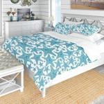 Blue Starfish Pattern Printed Bedding Set Bedroom Decor