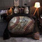 Old Baseball Printed Bedding Set Bedroom Decor For Sport Lover