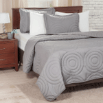Solid Embossed Bedding Set All Over Prints