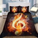 Lovely Music On Fire Bedding Custom Name Duvet Cover Bedding Set #DH