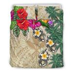 Kanaka Maoli (Hawaii) Hibiscus Turtle Tattoo Beige A Bedding Set BEVRKW