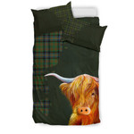 Cochrane Ancient Tartan Scottish Highland Cow Bedding Set JJIUC