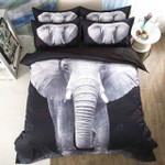 A White Elephant Printed Bedding Set Bedroom Decor