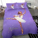 Balerina Black Little Girl Ballet Custom Name Duvet Cover Bedding Set #1407H 01