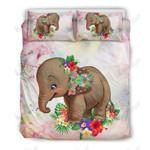 Elephant Hwp Flower Printed Bedding Set Bedroom Decor
