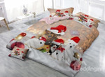Small Animals With Christmas Hat ClhB Bedding Set CAMLIRG