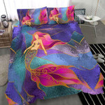Mermaid Dream Bedding Custom Name Duvet Cover Bedding Set #L