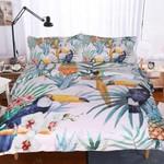 Tropical Night Bird Printed Bedding Set Bedroom Decor