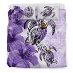 Polynesian Tahiti Polynesia Turtle Hibiscus Purple A Bedding Set CAMLIQN