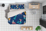 Mermaid Dark HHCTH Bedding Set BEVRZE