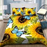Sunflower And Butterfly Bedding Set All Over Prints 03