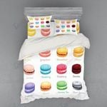 Color Cakes Collection Printed Bedding Set Bedroom Decor