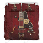 Red Electric Guitar Bedding Set Bedroom Decor