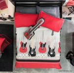 Rock Music Band Printed Bedding Set Bedroom Decor
